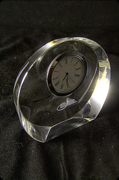 時計付きトロフィー
