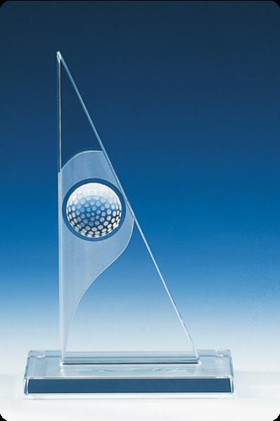 Plakieta trójkątna z piłką golfową