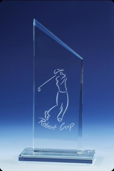 Puchar plakiety trapezowej szklanej
