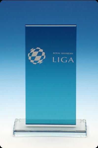 Niebieska plakieta szklana
