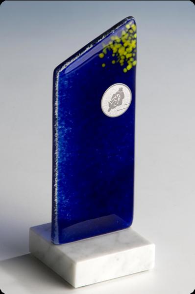 Szkło fussingowe niebieskie