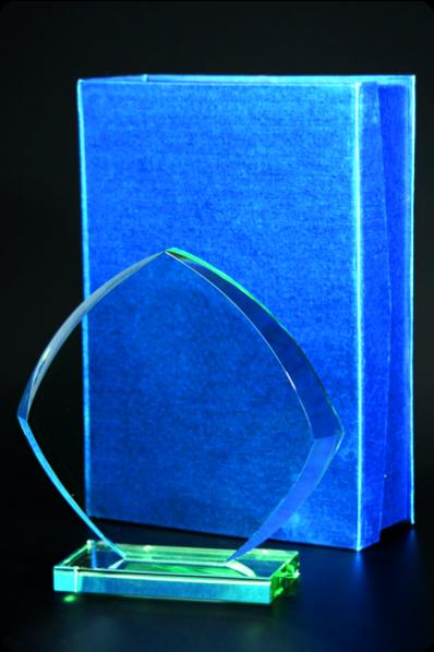 Symetryczna kryształowa plakieta