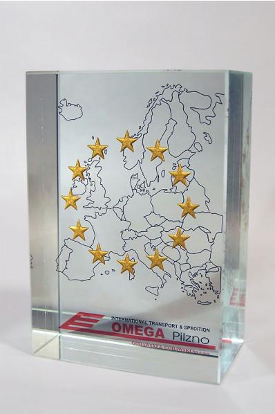 Mapa Europy w szkle
