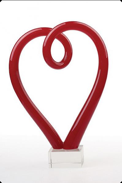 """Puchar """"serce"""" szklane"""