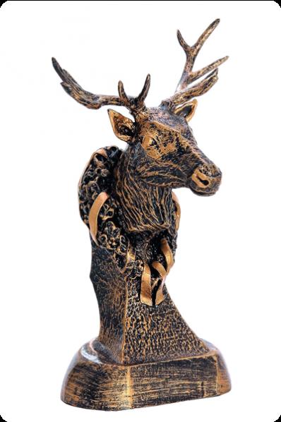 Głowa jelenia z porożem